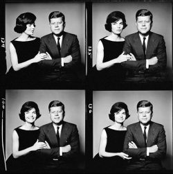 JFK and Jackie contact sheet Photos by Richard Avedon