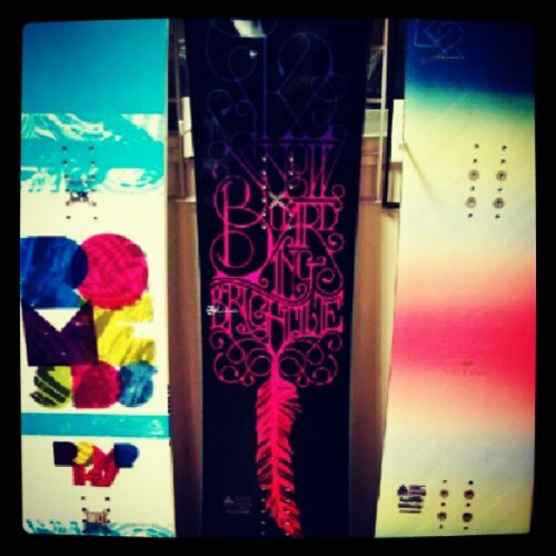 Possibly going to be mine; the middle one :D #snowboard #love #snow #Excited  (Taken with Instagram)