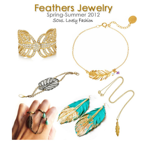 ~She Has Wings~ Feathers Jewelry Trend 4 Spring Summer 2012.