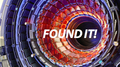 Higgs Boson particle found (or something at least). So what is it? Watch the clip to find out:  the-star-stuff:  Physicists Have Found the Higgs Boson At a meeting held at CERN this morning, scientists presented the latest results from the search for the long-sought Higgs particle. After 30 years of research and $9 billion of investment, they've changed the face of physics forever: they've found the Higgs boson.