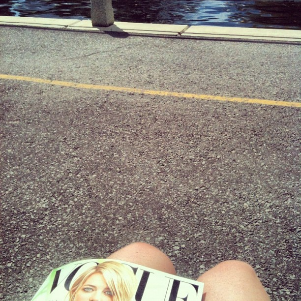 Afternoon in the sun. #canal #vogue #relaxation (Taken with Instagram)
