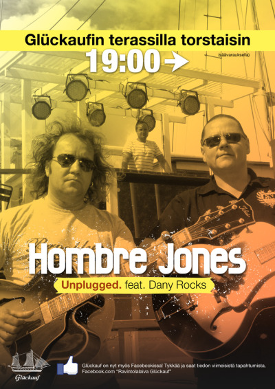 Hombre Jones - unplugged. Feat. Dany Rocks -juliste