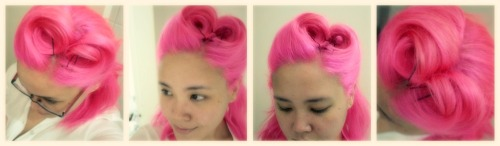 "fuckyeahfantasyhair:  ""I used SFX atomic pink on bleached hair :)enjoy! http://whimsicalaccordance.blogspot.com/ "" Very pretty, that used to be my color too :)"