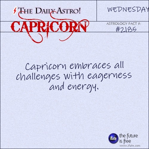Capricorn 2185: Check out The Daily Astro for facts about Capricorn.and u can get a free tarot reading here. :)