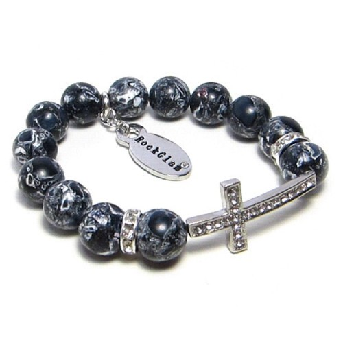 For black&white lovers only the new #cross #bracelet:) can be found at www.rockglamstyle.com! #fashion #style #accessories #armparty #armporn (Taken with Instagram)