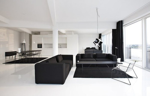koniser:  Dapper padsNothing like a sizeable, open living space. Particularly when it's sparsely decked out. That said, we're far from fussed on the lounges. And you'd be hoping the balcony looks out to, say, Central Park, or, better still, the Caribbean. Follow Koniser on Facebook and Twitter