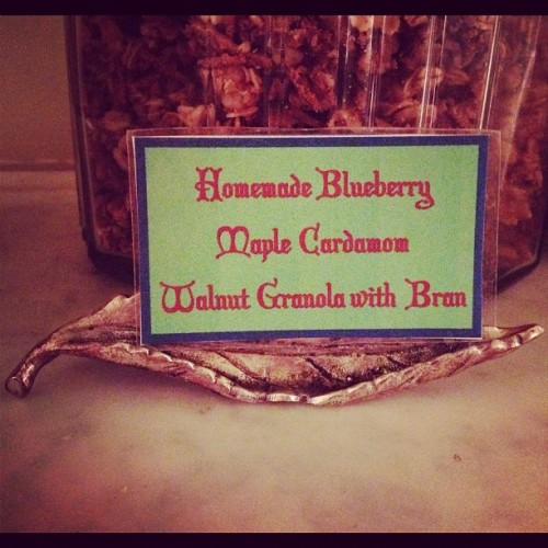 Even our homemade granola is unique. #breakfast #baltimore #food #cooking #travel  (Taken with Instagram at Scarborough Fair Bed & Breakfast)