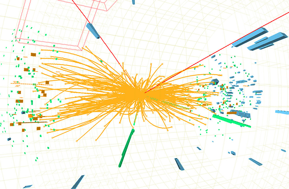 "CERN scientists discover new particle consistent with the Higgs bosonScientists at the CERN research centre have found a new subatomic particle that could be the Higgs boson, the basic building block of the universe.""I can confirm that a particle has been discovered that is consistent with the Higgs boson theory,"" said John Womersley, chief executive of Britain's Science & Technology Facilities Council, at an event in London.The Higgs particle, although crucial for understanding how the universe was formed, remains theoretical. It explains how particles clumped together to form stars, planets and even life.Without the Higgs particle, the particles that make up the universe would have remained like a soup, the theory goes. (Image: CERN via AFP / Getty Images)"