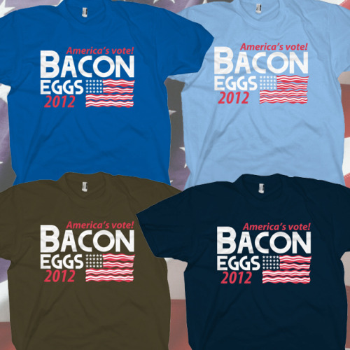 "fishbiscuit5:  ""With Liberty and Bacon for All"" shirt at Goodjoe.com. TODAY ONLY!  Happy 4th of July!  ow.ly/c0GXV"