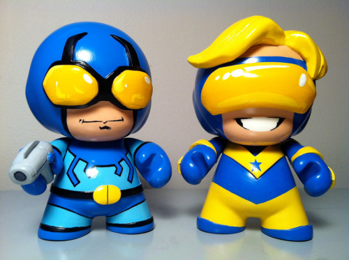 adammetcalfe:  Bromance of the century, Booster Gold and Blue Beetle 2 pack. Want a custom? Holla at me