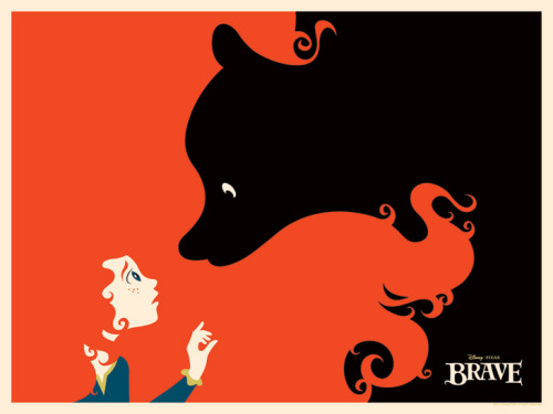 "fancysomedisneymagic:  Comic-Con 2012: Awesome ""BRAVE"" Print byMichael De Pippo"