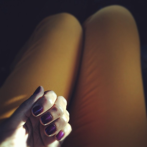 Too in love with my nail color. TOO IN LOVE. (Taken with Instagram)