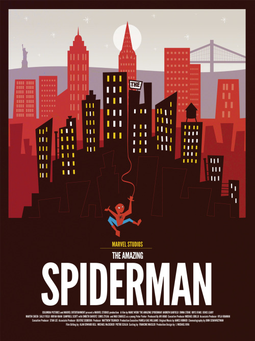 Beautiful retro-style Amazing Spider-Man poster by Dave Williams!