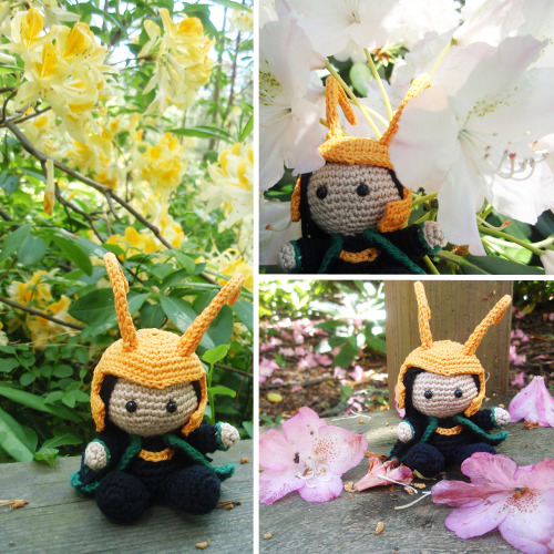 overthebifrost:  Pocket Loki visited The Rhododendron Park.  IT'S SO CUTE!