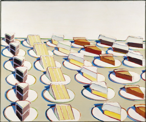 artpedia:  Wayne Thiebaud - Pie Counter, 1963. Oil on canvas