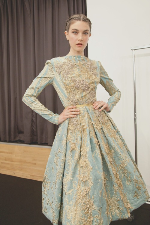 Backstage at Elie saab couture fall/winter 2012