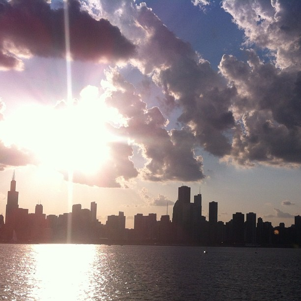 Just one of the reasons I'm in love with this city #nofilter #summertimechi (Taken with Instagram)