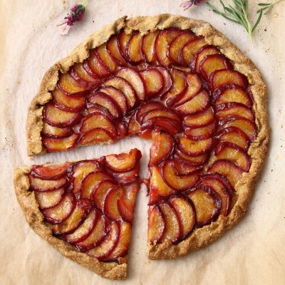 Rustic Plum and Lavender Galette