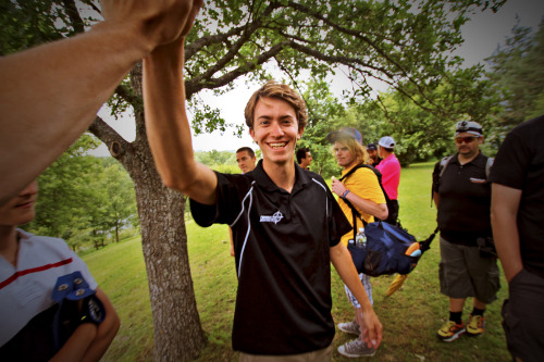 Hi fives from Will Schusterick, the Stockholm Disc Golf Open Champion 2012.