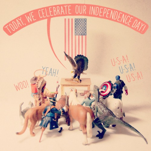 "sirmitchell:  aledlewis:  Happy 4th of July!  This is missing a ""severely obese 40 year old on a rascal scooter"" figurine."