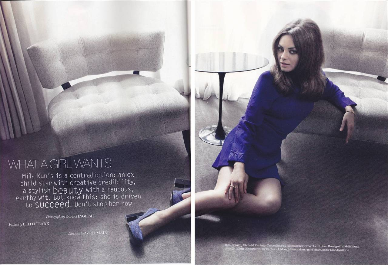 "twism:  Here are some photos of Mila Kunis from the August issue of Elle UK. In an interview with the magazine, Mila talked about how she doesn't understand celebrities who adopt a persona so people would like them, holding her family and friends close to her hard, working hard to prove those who underestimate her wrong, and that she is ""really single"". Good Lord, Mila looks bloody gorgeous in these photos, doesn't she?! She's just so bloody flawless!"
