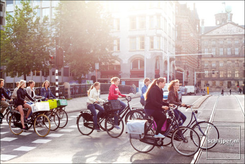A group of friends in Amsterdam just getting from A to B around the city! Photo: Thomas Schlijper