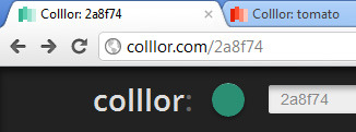 Colllor - The favicon changes to match the chosen color /via Tom