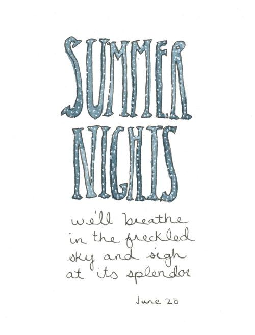 180/366 Summer nights