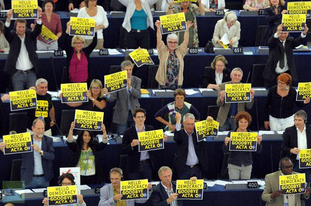 European Parliament, after voting down ACTA