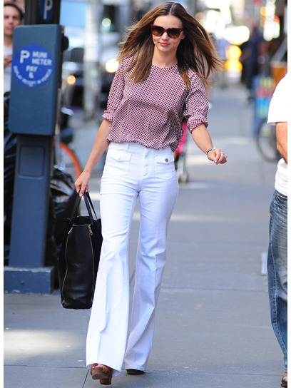Miranda Kerr is one of our best-dressed celebs of the week in a stylish '70s-inspired ensemble by Stella McCartney. Check out the rest of the stars who topped our list »