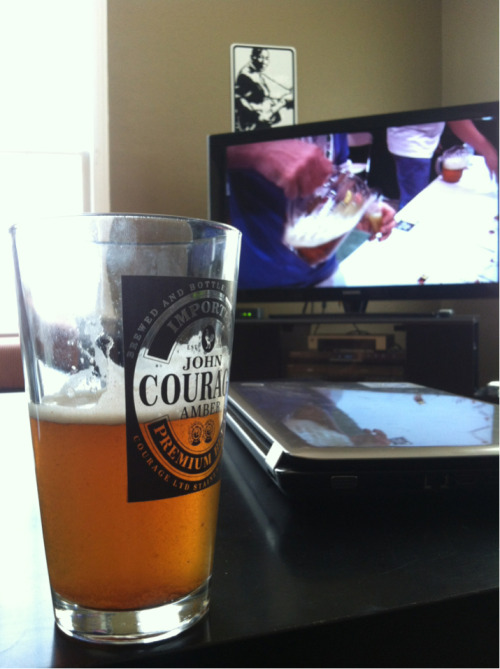 Watching the movie Beer Wars on Netflix and drinking a beer. Happy Fourth of July.