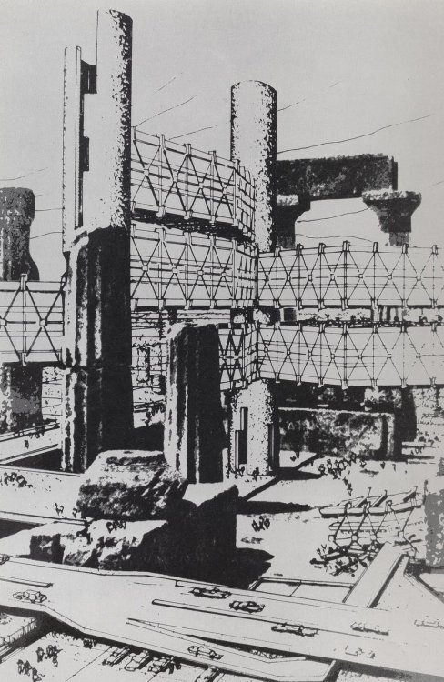 megaestructuras:  Arata Isozaki - Cluster in the Air - 1961