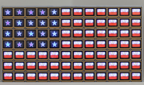 nobodysdiary:  Happy 4th of July! cavetocanvas: Nam June Paik, Video Flag Z, 1986