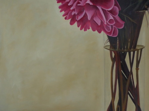 Vase, oil on canvas, 91x122cm
