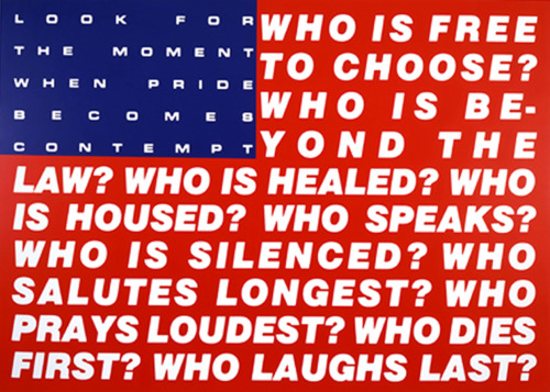cavetocanvas:  Barbara Kruger, Untitled (Questions), 1991