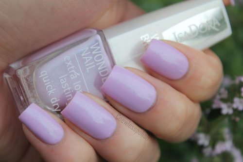 IsaDora Icy Lilacs on Flickr.This is such a pretty polish! Love it!  www.coewlesspolish.wordpress.com