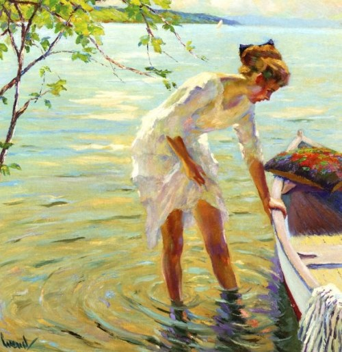 paperimages:  Edward Cucuel (American, 1875-1954), The Boat
