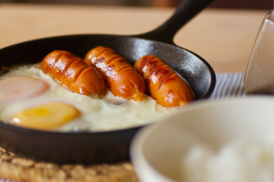 eternityscape:  egg & sausage (by taidoh)