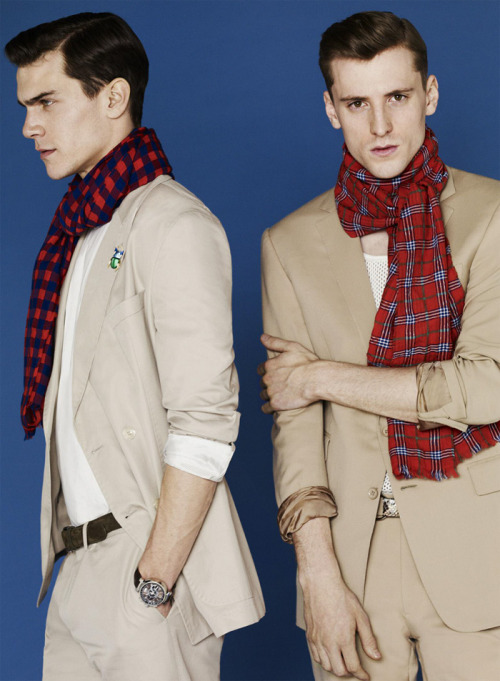 mensfashionworld:  George Barnett & Vincent LaCrocq by Bruno Staub for Les Echos Série Limitée