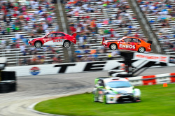 X-Games 2012. Great shot of the two Saabs.