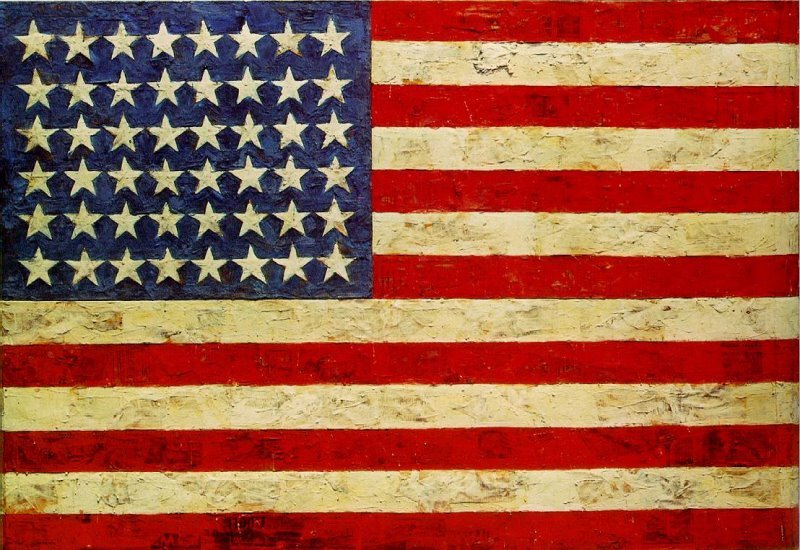 minusmanhattan:  Flag (1954-55) by Jasper Johns.