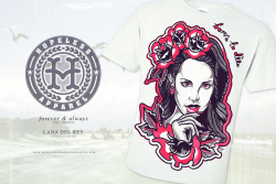 New concept design for my clothing line: HOPELESS.APPAREL LANA DEL REY <3 What do you guys think about this t-shirt? Like up the page: http://www.facebook.com/HOPELESS.CLOTHING/info
