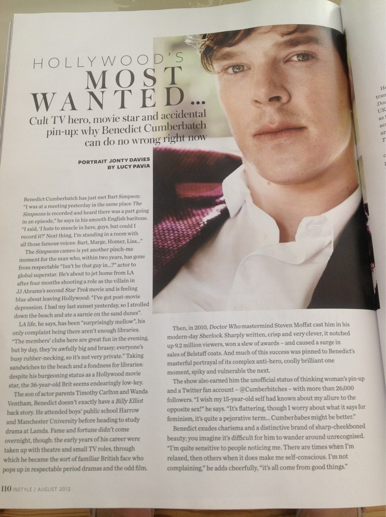 "rox712:  cumberbuddy:  My favourite part of this interview. Part 2 HERE https://twitter.com/JuliaFernbau/status/220535579388026880/photo/1/large Many thanks to @JuliaFernbau for uploading. 'What do his actor parents make of it all? ""They're over the moon,"" he says, his voice softening. ""I flew them out here recently and they came to see me on the Star Trek set. All the stuff that's happening to me is useless unless you can share it was someone you know. And who better to have by your side than family?""  I ask if there was a single moment when he really knew he'd made it. His answer is typical: ""I had my first 'top off on the beach' shot the other day!"" He says sounding astonished. ""I thought 'Wow, im becoming the person in the magazine i used to beg Olivia not to read'. It was one of those moments where you stop and think. 'Oh god - This really is happening to me now!"".   ""Cumberbabes might be better."""