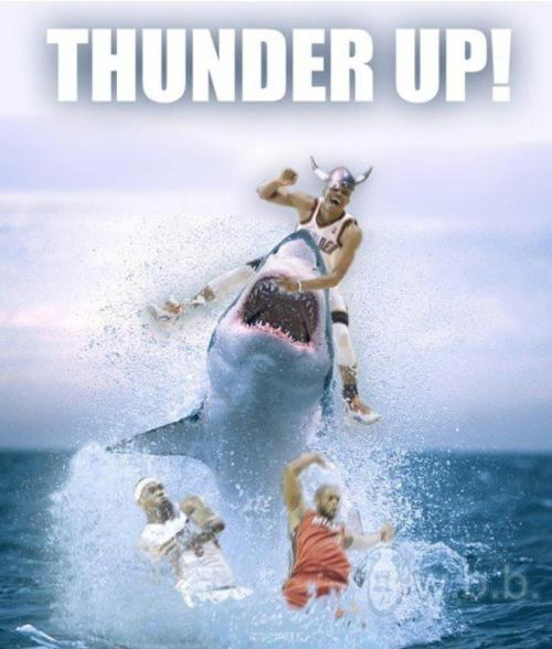 Definitely thunder up! lol