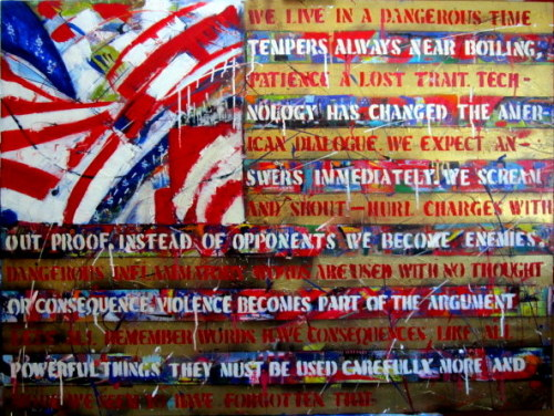 Bk Kirwan   Dangerous Rhetoric Acrylic on canvas