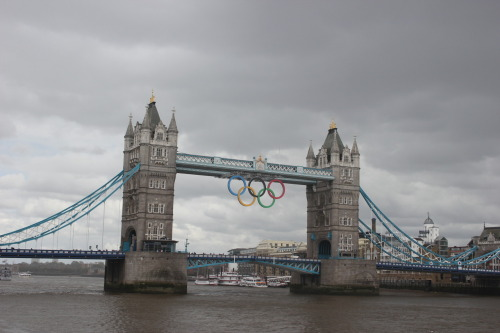 The Olympic decorations in London