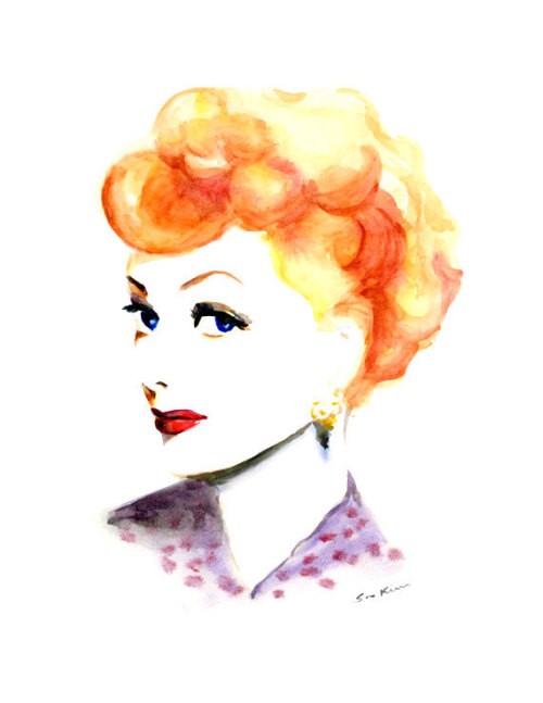 etsygoodies:  (via Lucy Lucille inspired Watercolor illustration by soo210 on Etsy)