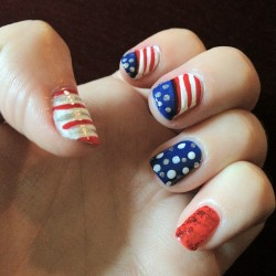 Eat your heart out Betsy Ross! #nails #usa  (Taken with Instagram)
