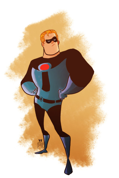 """One character a day"", day 4, Mr Incredible"