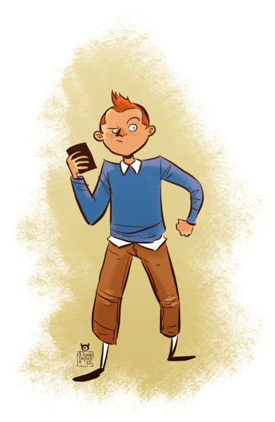"""One character a day"", day 5, Tintin"